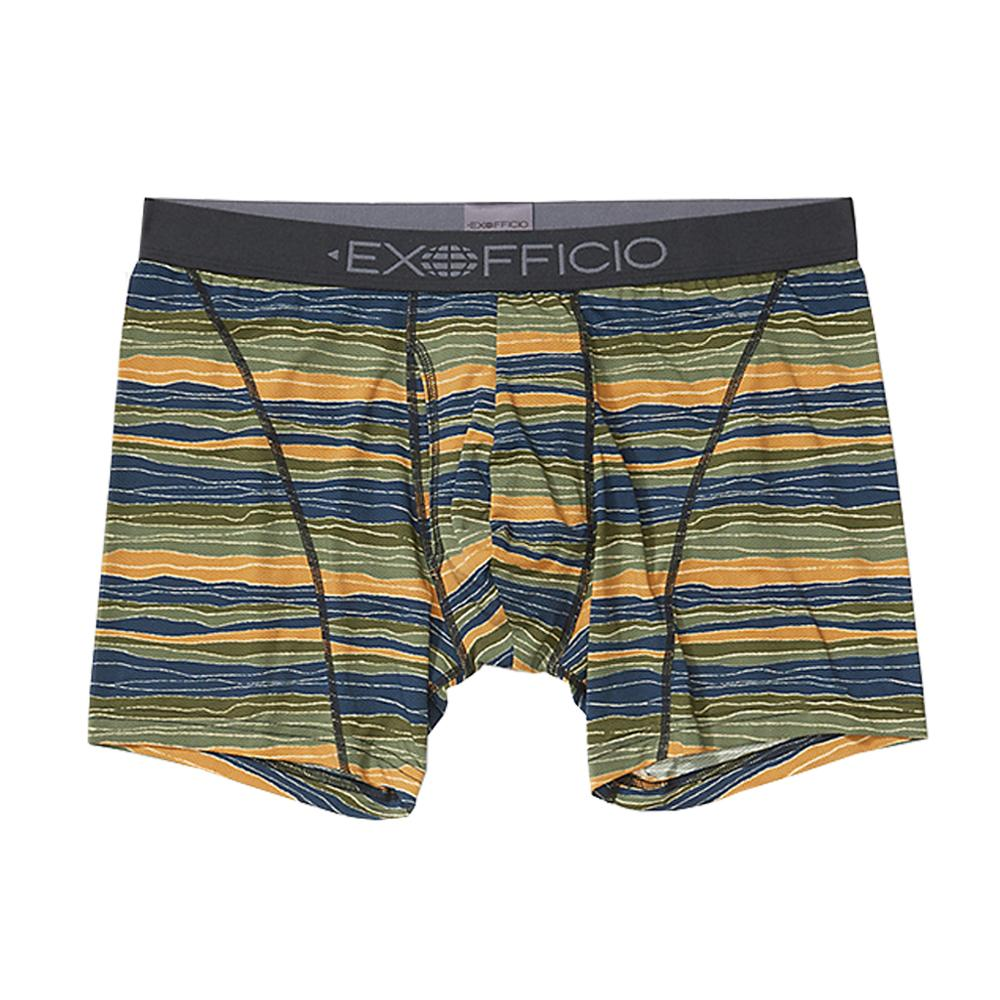 ExOfficio Men's Give-N-Go 2.0 Sport Mesh 6in Boxer Brief STRIP_5291