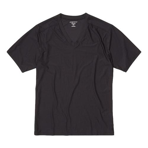 ExOfficio Men's Give-N-Go 2.0 V-Neck Tee Black_9999