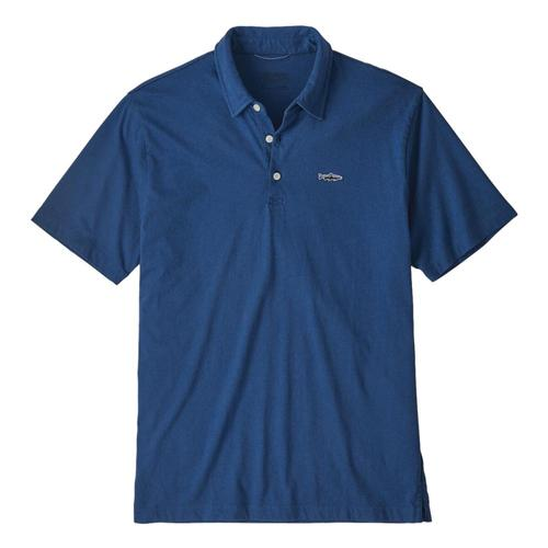 Patagonia Mens Polo Trout Fitz Roy Shirt Blue_sprb