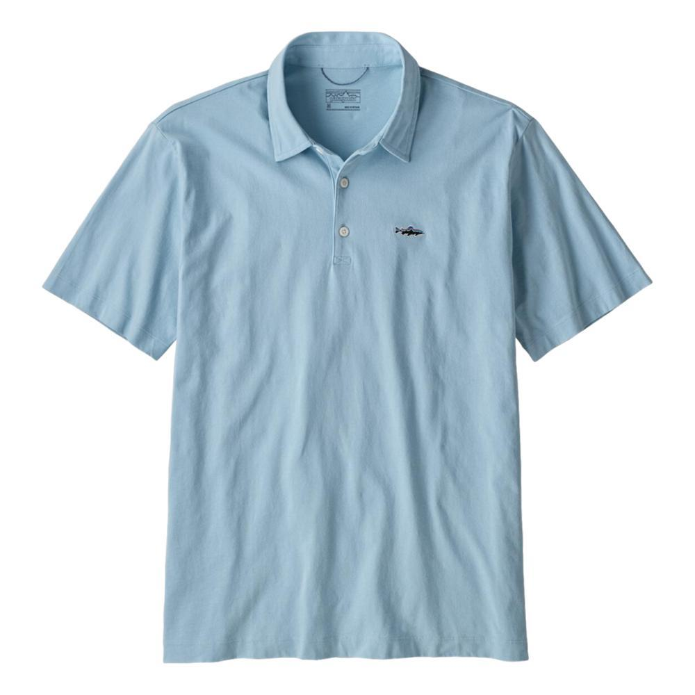 Patagonia Mens Polo Trout Fitz Roy Shirt SKYBLUE_BSBL