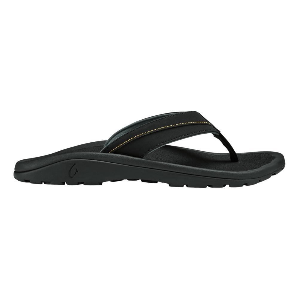 OluKai Men's 'Ohana Koa Sandals BLK.SUNR_408H