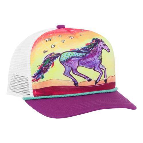 Sunday Afternoons Kids Horse Feather Cooling Trucker Hat HORSEFTHR