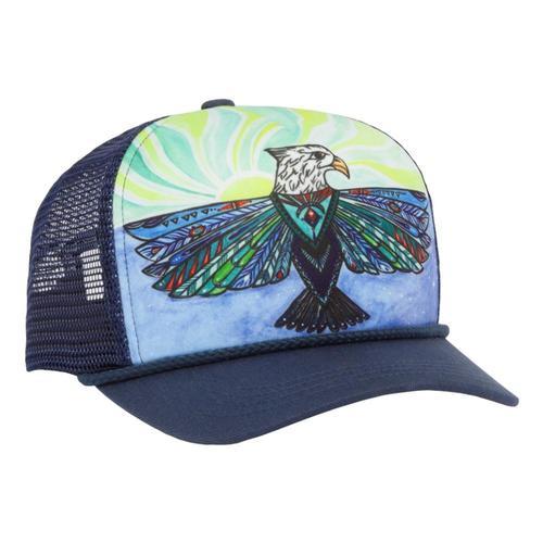 Sunday Afternoons Kids Soaring Sun Trucker Hat Soareagle