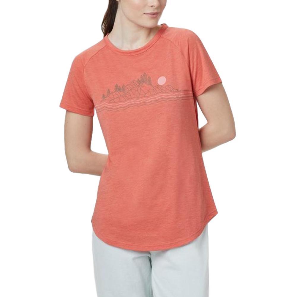 tentree Women's Geo Mountain Raglan T-Shirt ORANG_0714