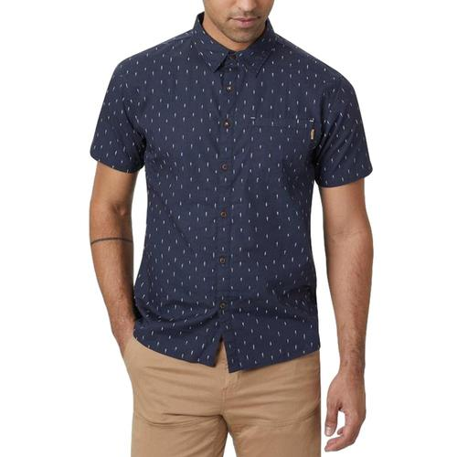 tentree Men's Cotton Shortsleeve Shirt Blue_833