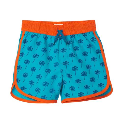 Hatley Boys Tropical Palms Swim Shorts Baltic