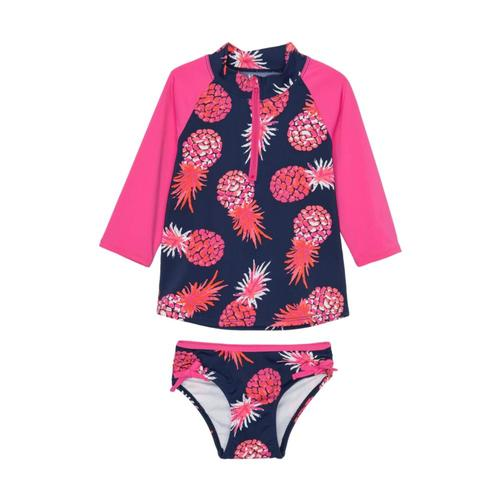 Hatley Girls Party Pineapples Rashguard Set Patblue