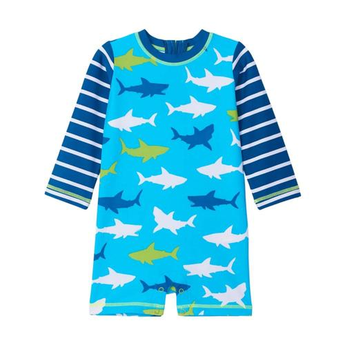 Hatley Infant Great White Sharks Rashguard One-Piece Blueatol