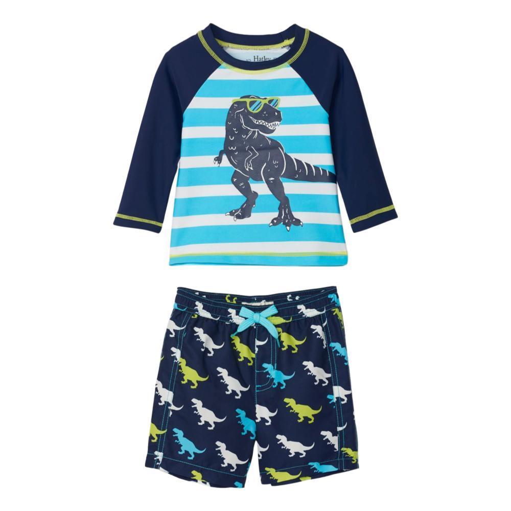 Hatley Infant Cool T-Rex Rashguard Set NAVY
