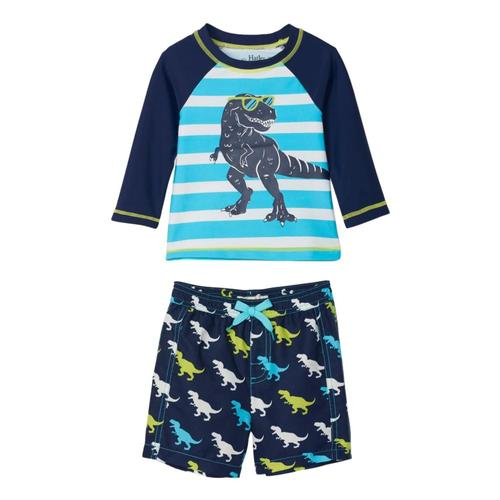 Hatley Infant Cool T-Rex Rashguard Set Navy