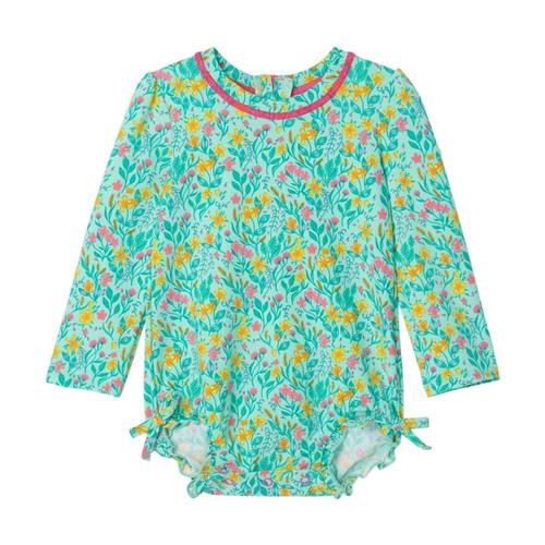 Hatley Infant Summer Garden Baby Rashguard Swimsuit Icegreen