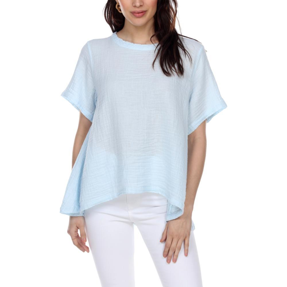 Honest Cotton Women's Tuscan Top BABYBLUE