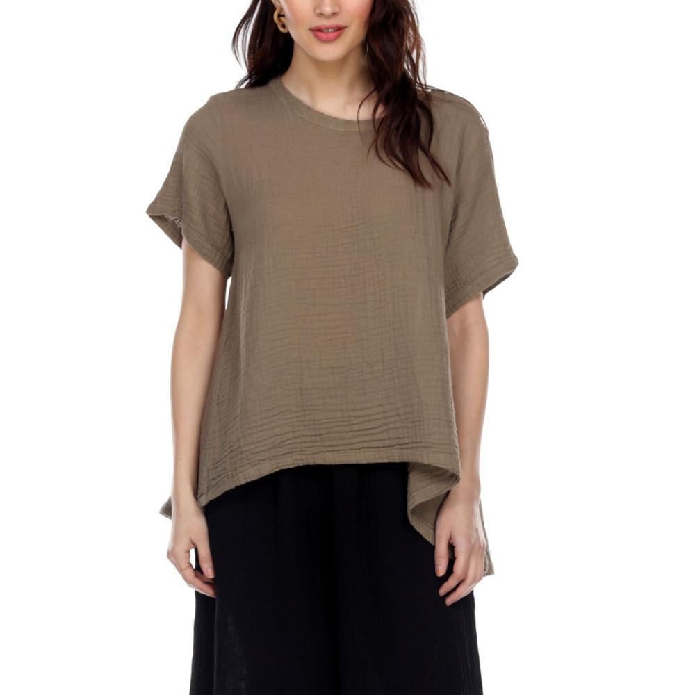 Honest Cotton Women's Tuscan Top TAUPE