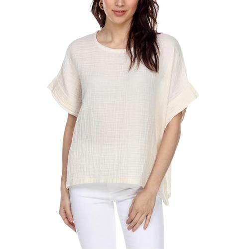 Honest Cotton Women's Boxy Tee Cream