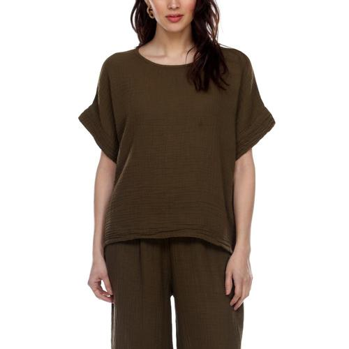 Honest Cotton Women's Boxy Tee Olive