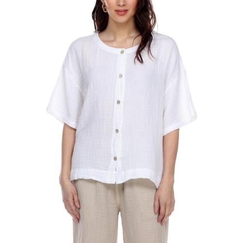 Honest Cotton Women's Boxy Button-Up White