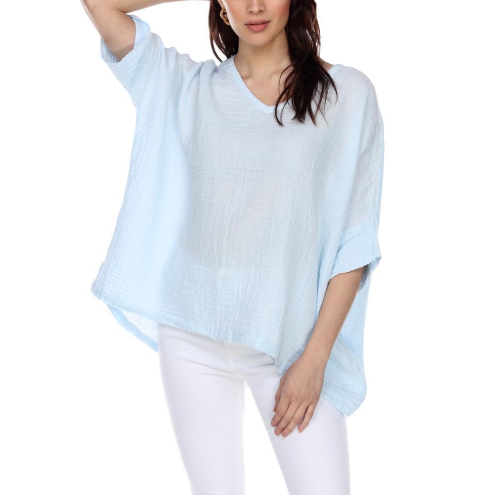 Honest Cotton Women's Kennedy Tunic BABYBLUE