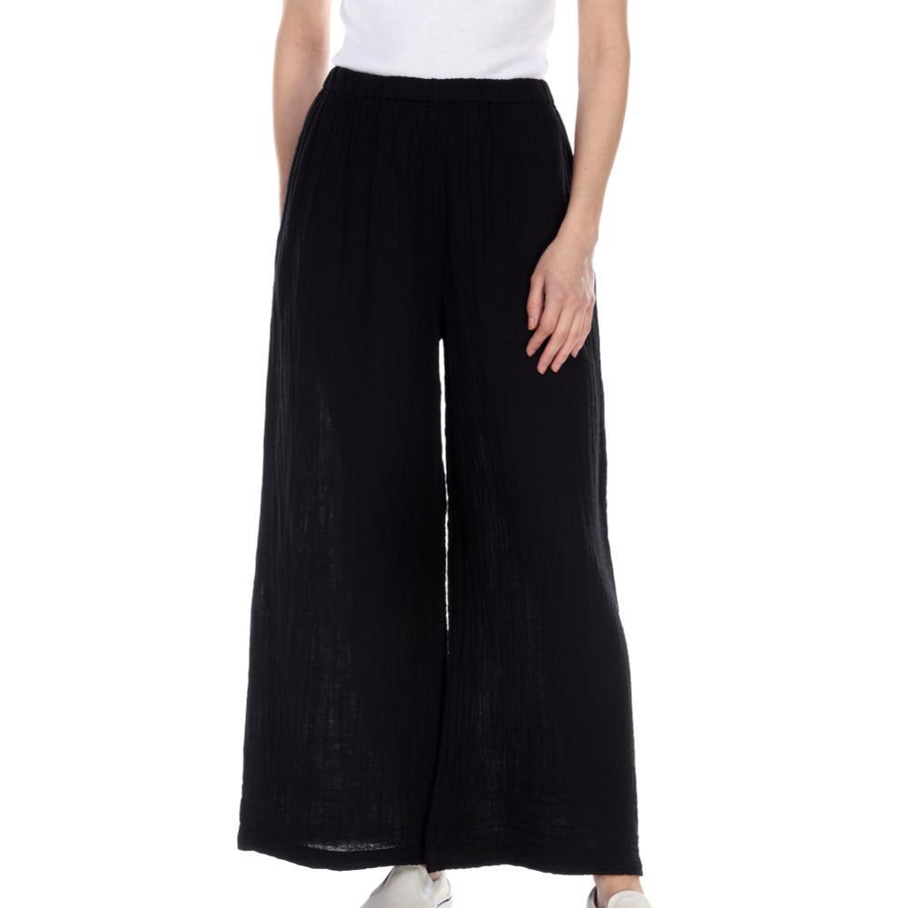 Honest Cotton Women's Long Palazzo Pants BLACK