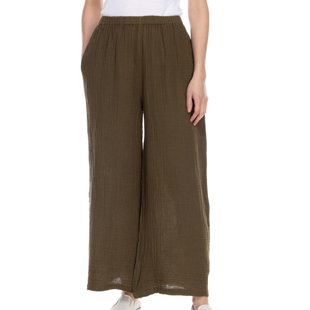 Honest Cotton Women's Long Palazzo Pants OLIVE