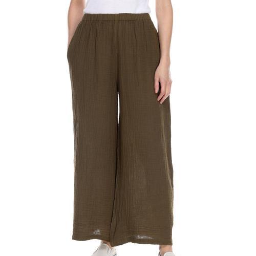 Honest Cotton Women's Long Palazzo Pants Olive