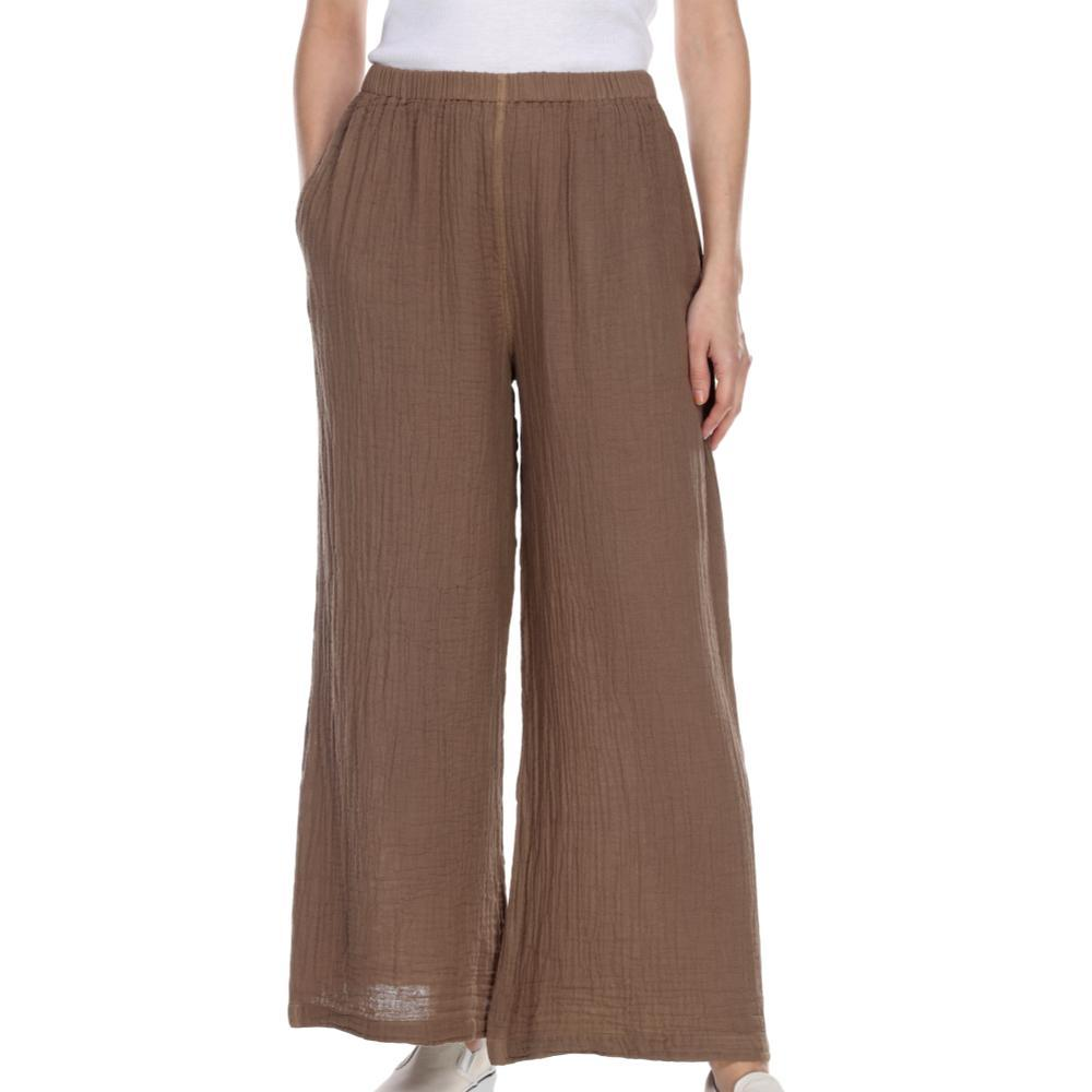 Honest Cotton Women's Long Palazzo Pants TAUPE