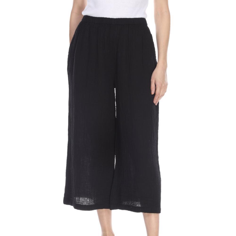 Honest Cotton Women's Crop Palazzo Pants BLACK