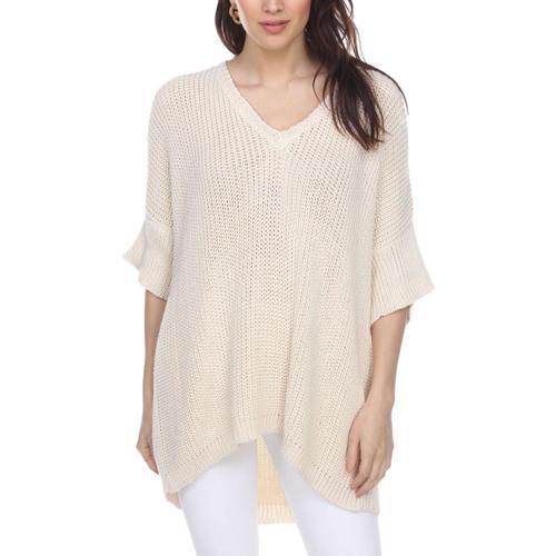 Honest Cotton Women's Handknit Kennedy Tunic Cream