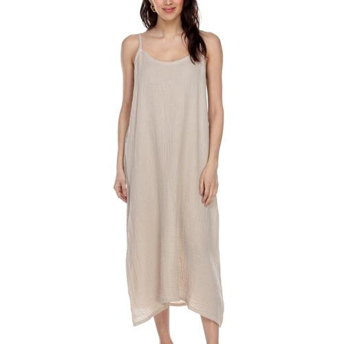 Honest Cotton Women's Long Cotton Slip Ecru