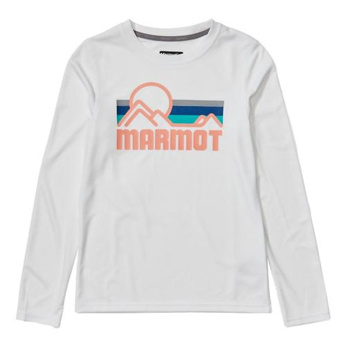 Marmot Girls Windridge Long-Sleeve Shirt White_080