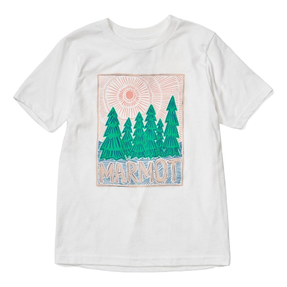 Marmot Girls Nico Short Sleeve Tee WHITE_080