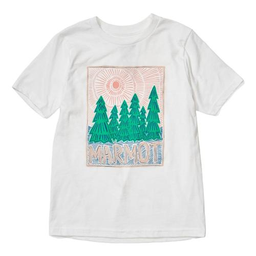Marmot Girls Nico Short Sleeve Tee White_080