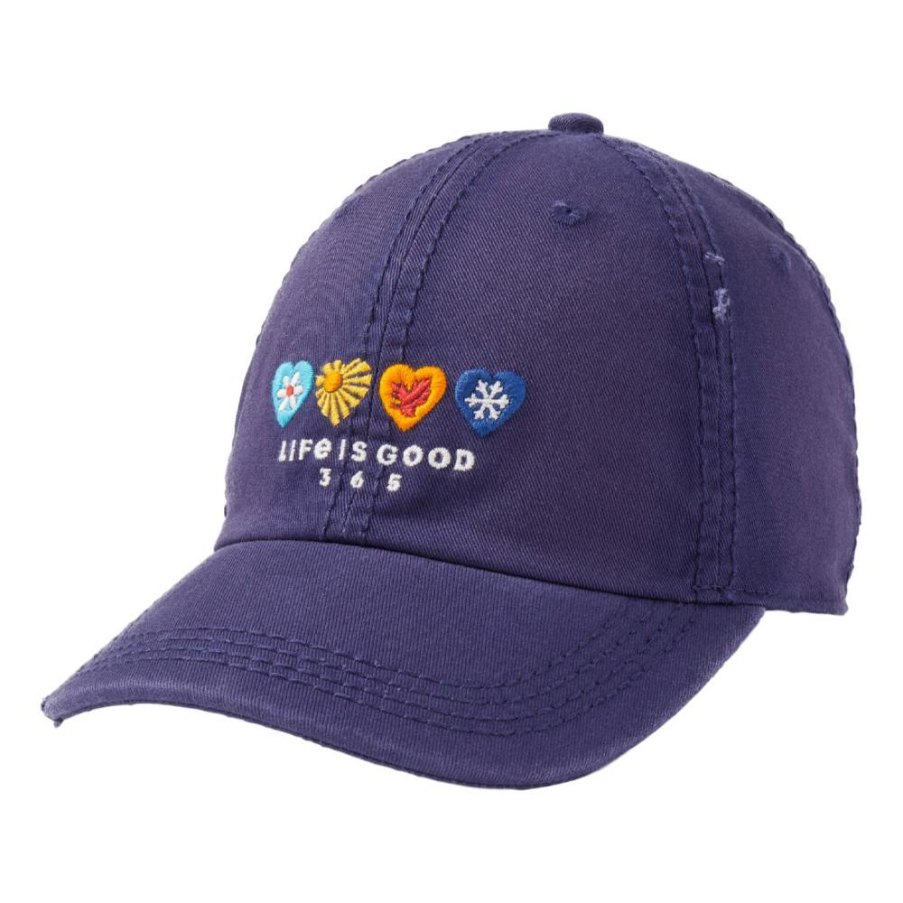 Life is Good LIG 365 Hearts Sunwashed Chill Cap DARKSTBLUE