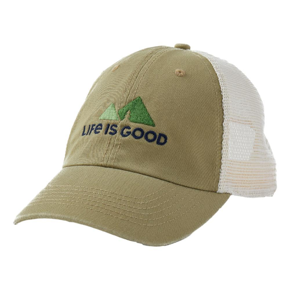 Life is Good LIG Minimal Mountains Soft Mesh Back Cap FATIGGREEN