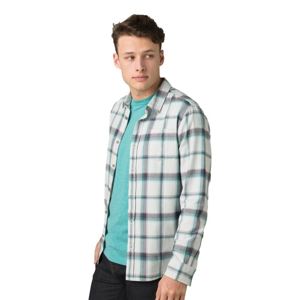 prAna Men's Shayne Flannel Shirt SILVERSPRAY