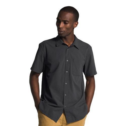 The North Face Men's Short Sleeve Baytrail Pattern Shirt Grey_oc5