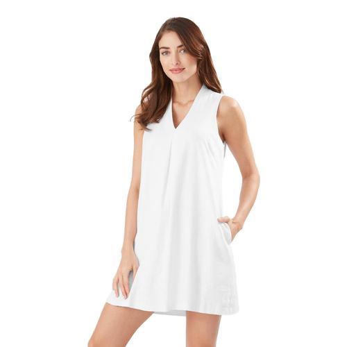 Tommy Bahama Daphne Linen-Blend Shift Dress White_33