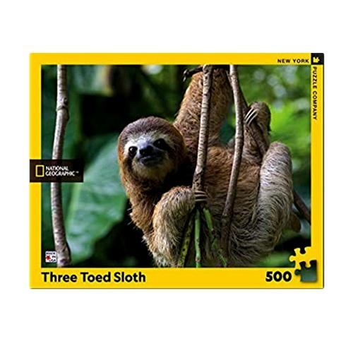 New York Puzzle Company National Geographic Three Toed Sloth Jigsaw Puzzle