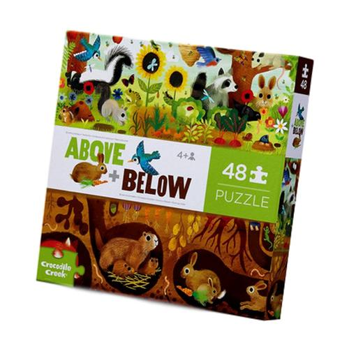 Crocodile Creek Above and Below Backyard Discovery Floor Puzzle 48pc
