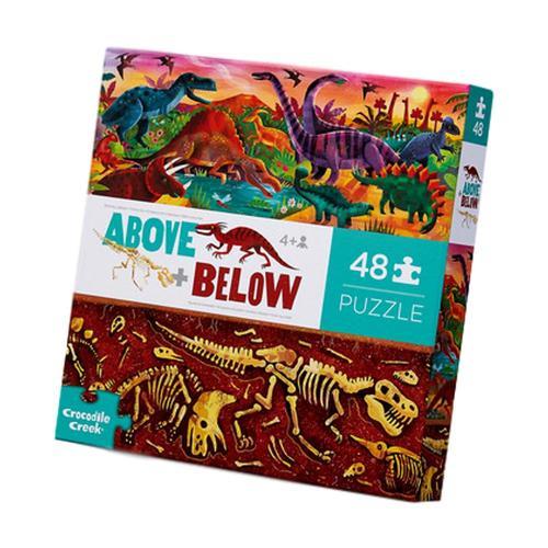 Crocodile Creek Above and Below Dinosaur World Floor 48 Piece Jigsaw Puzzle 48pc