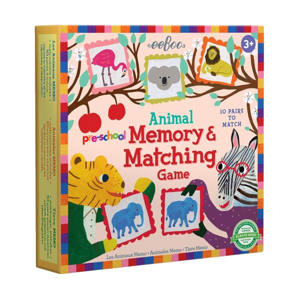 Eeboo Pre- School Animal Memory And Matching Game