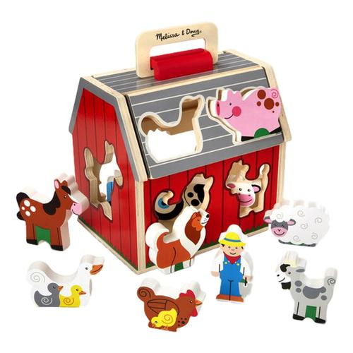 Melissa & Doug Take-Along Sorting Barn