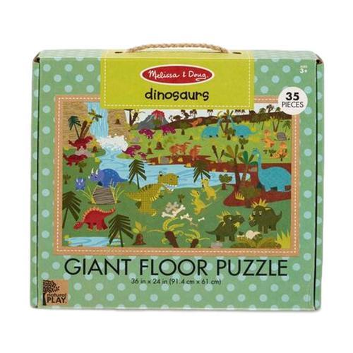 Melissa & Doug Natural Play Floor Jigsaw Puzzle: Dinosaurs
