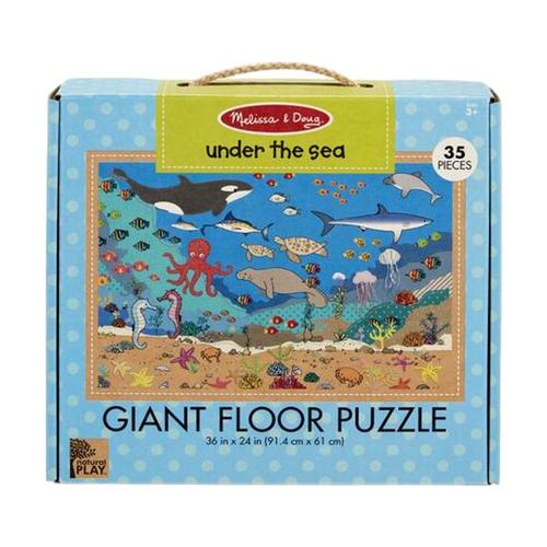 Melissa & Doug Natural Play Floor Jigsaw Puzzle: Under the Sea