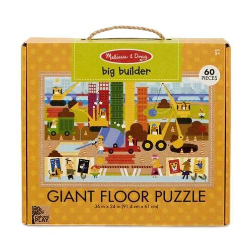 Melissa & Doug Natural Play Floor Puzzle: Big Builder