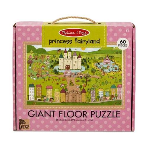 Melissa & Doug Natural Play Floor Jigsaw Puzzle: Princess Fairyland