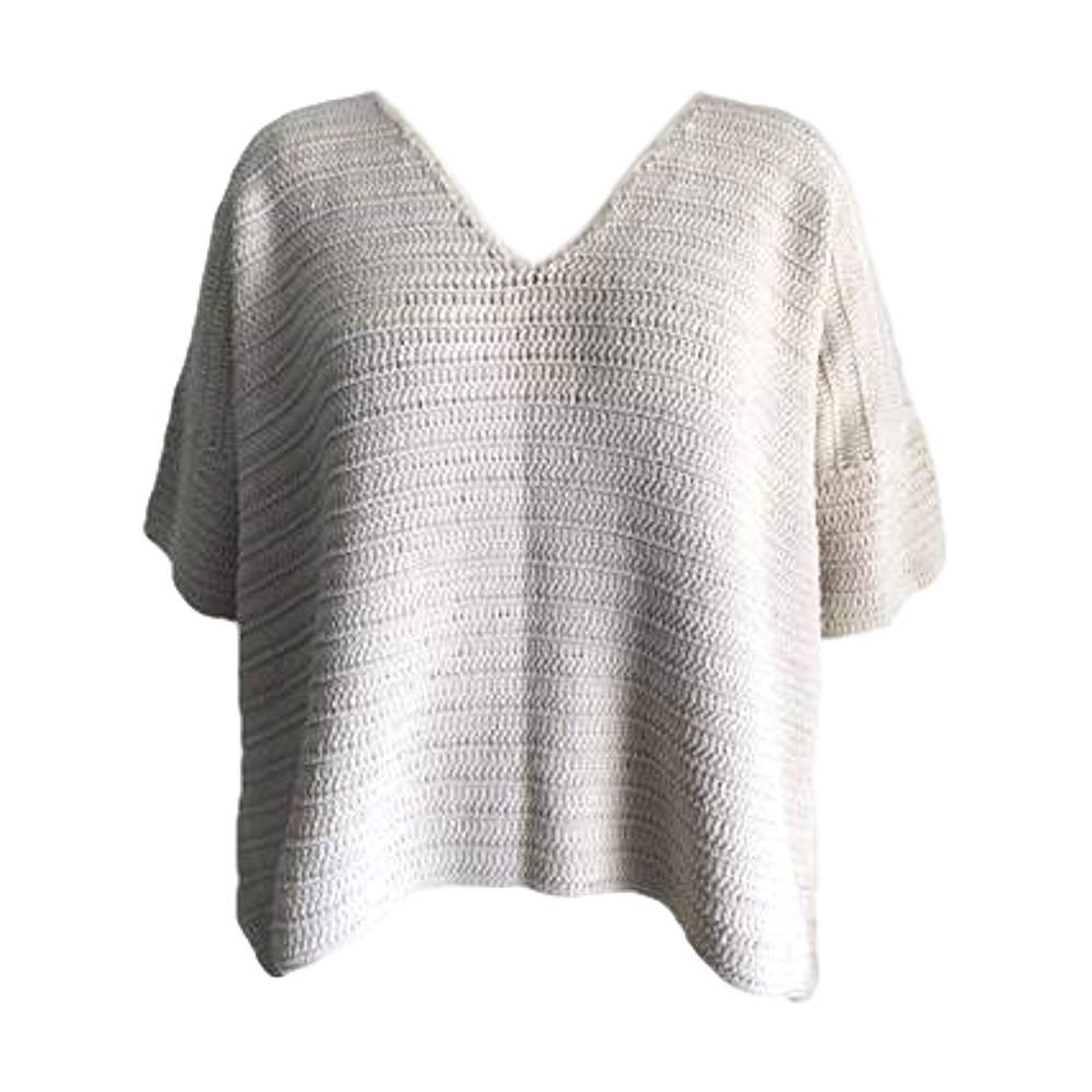 Honest Cotton Women's Kennedy Crochet Sweater CREAM