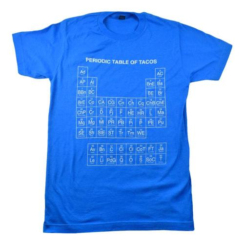 BarbacoApparel Periodic Table of Tacos T-Shirt