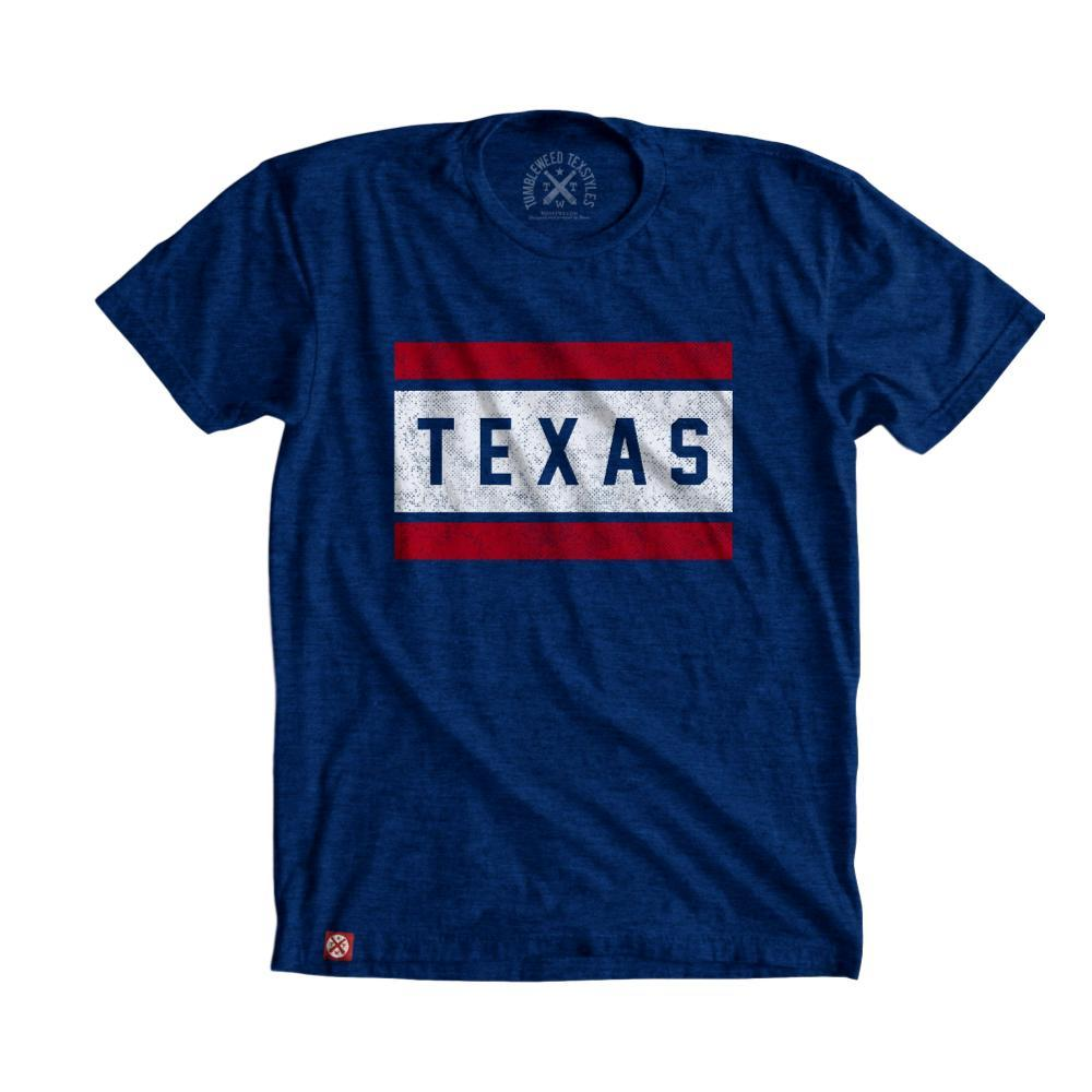 Tumbleweed Texstyles Unisex Block Texas T-Shirt ROYAL