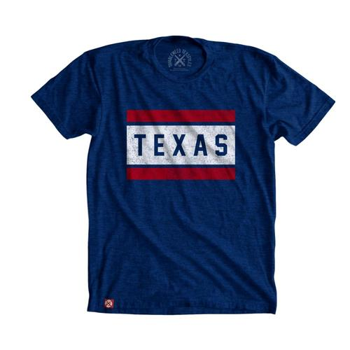 Tumbleweed Texstyles Unisex Block Texas T-Shirt Royal