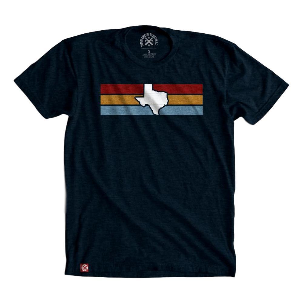Tumbleweed Texstyles Unisex Texas Stripes T-Shirt NAVY